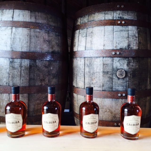 Caldera Distilling Whiskey bottles