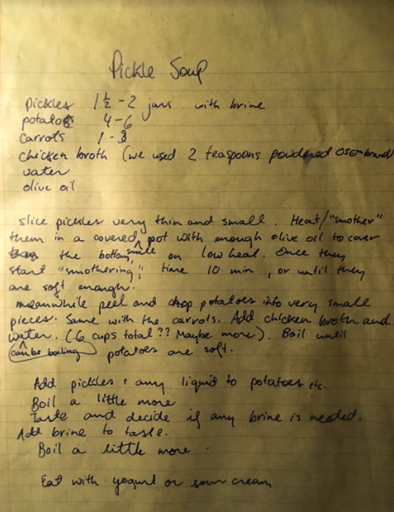 Pickle Soup Recipe